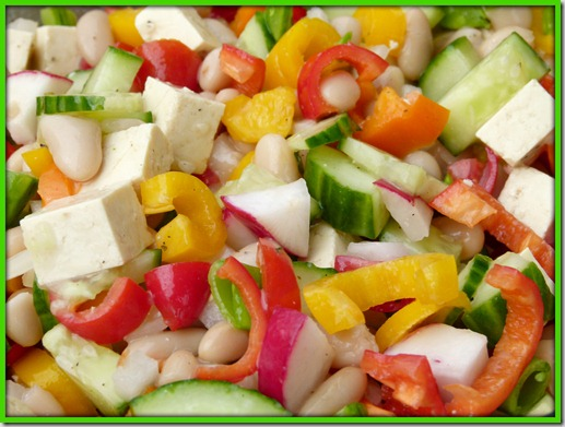 bean salad upclose