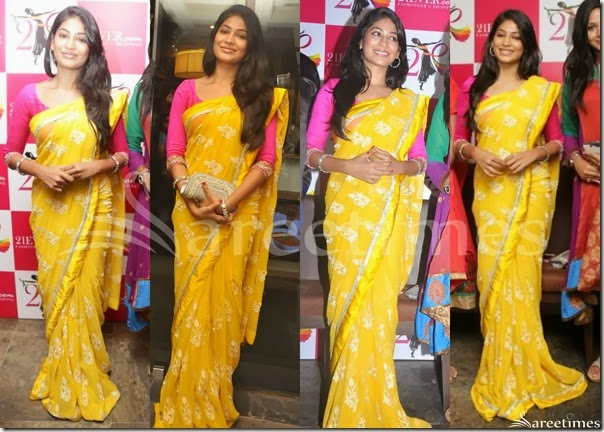 Vijaya_Lakshmi_Yellow_Saree
