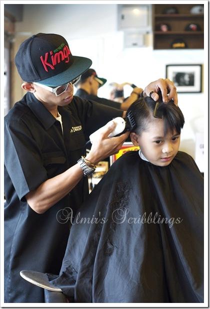 Amir masa potong rambut