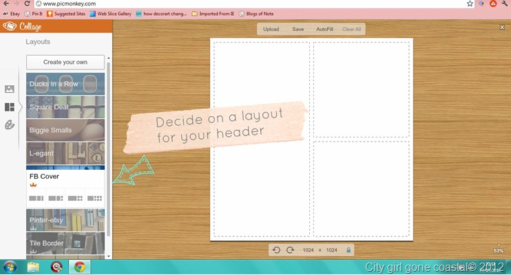 creating a header in picmonkey