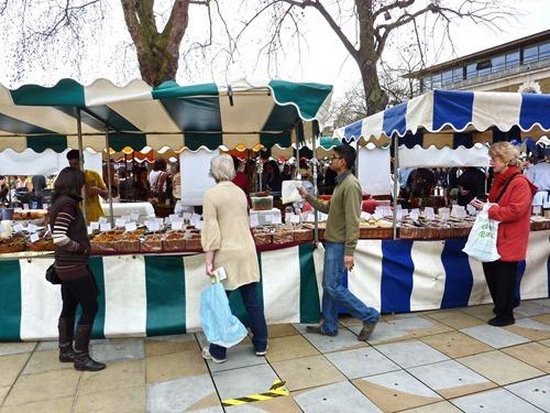Matmarknad på Kings Road