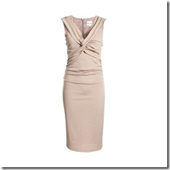 Susie TWIST FRONT FITTED DRESS CAPPUCCINO