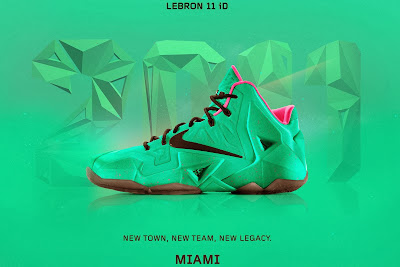 nike lebron 11 id south beach 1 02 A Decade of Moments // NIKEiD LeBron XI South Beach