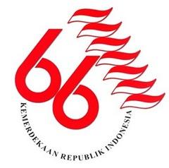 Logo 66 Tahun Indonesia Merdeka
