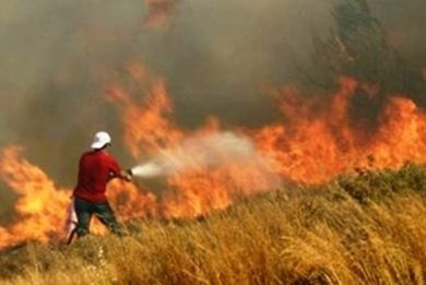 Πυρκαγιά στην Αγία Θέκλη
