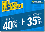 Flipkart Fashion sale get Flat 40% off + Extra 35% off on 2000+ brands