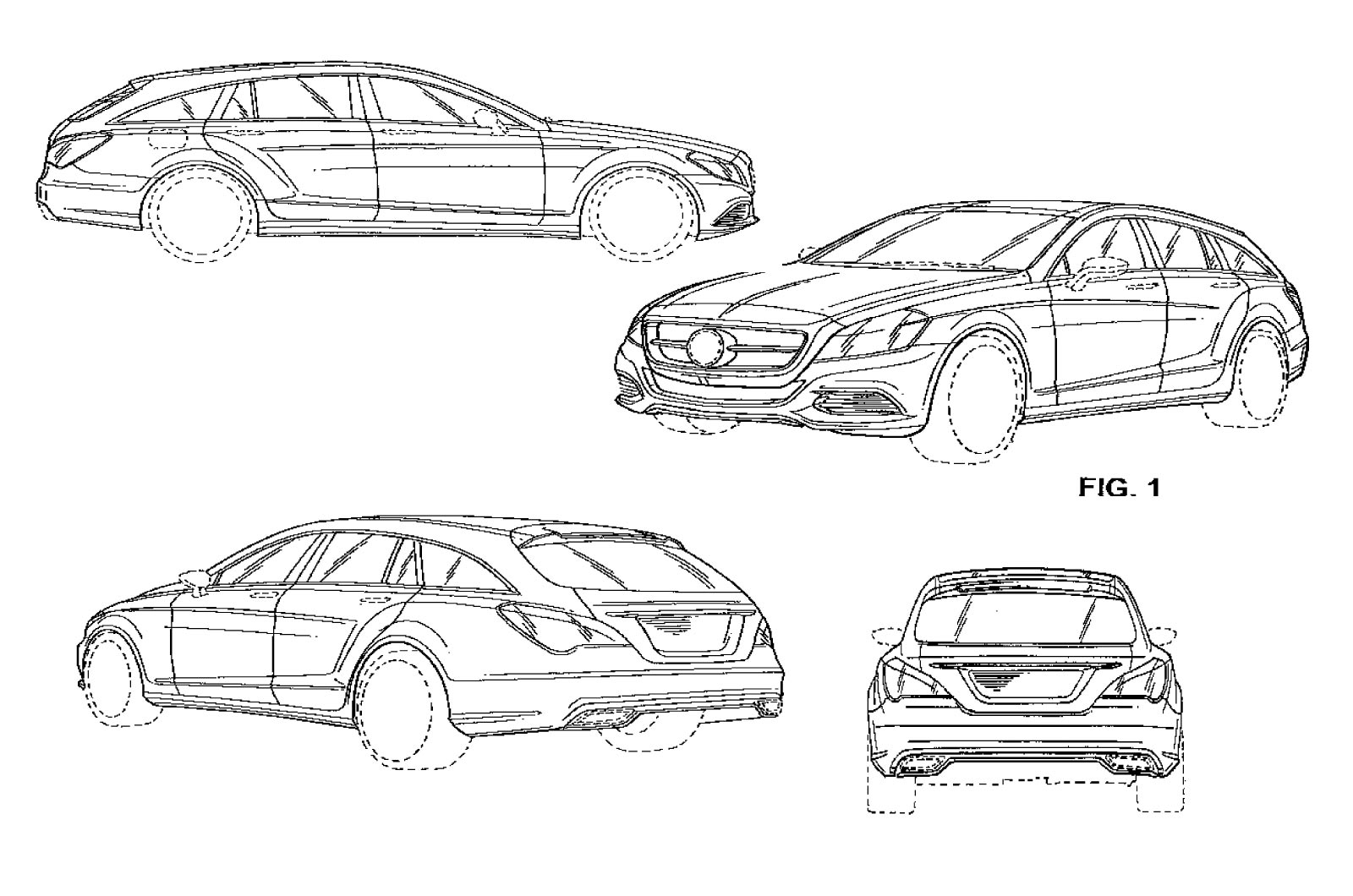 2013 mercedes cls shooting brake in patent izimleri for Mercedes plan