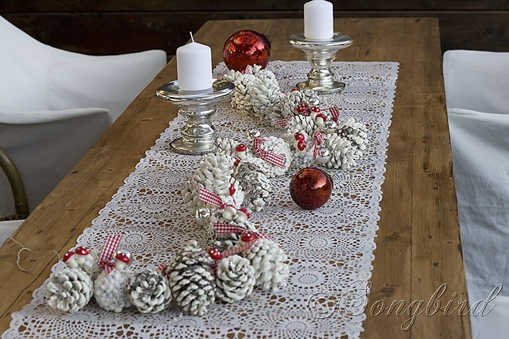 Songbird Pinecone Garland 2