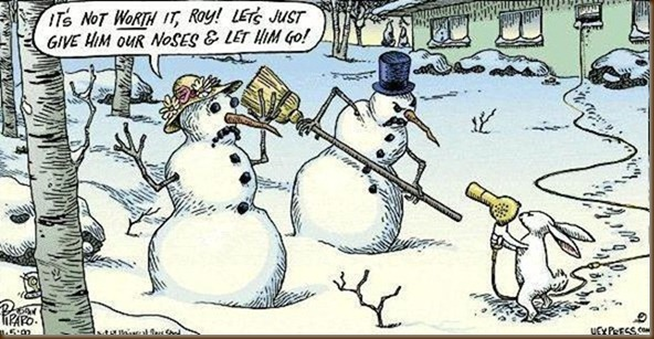 Snowmen being robbed