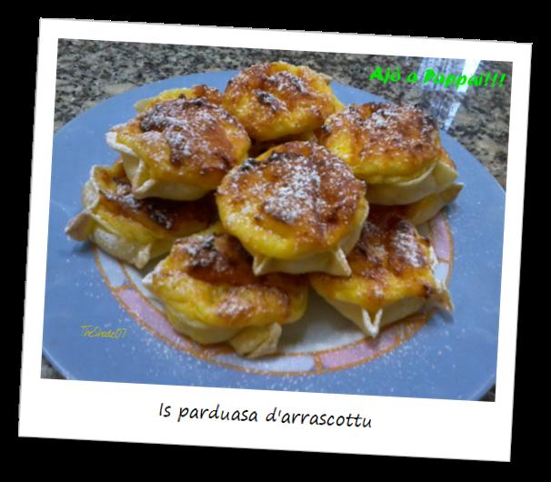 Fotografia dei dolci tipici sardi Is parduasa d'arrascottu