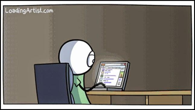 Delante del ordenador