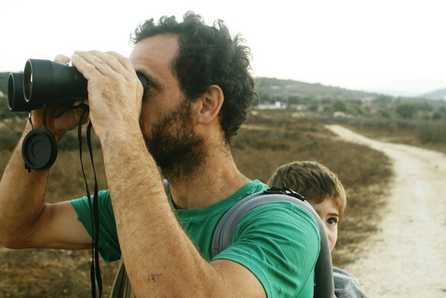 ofer with the binoculars