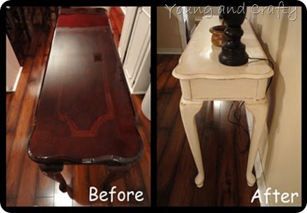 Lacquer Sofa table redo