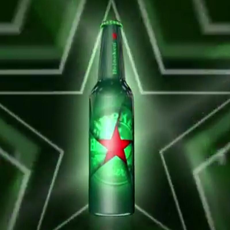 El ganador del diseño de la botella Heineken