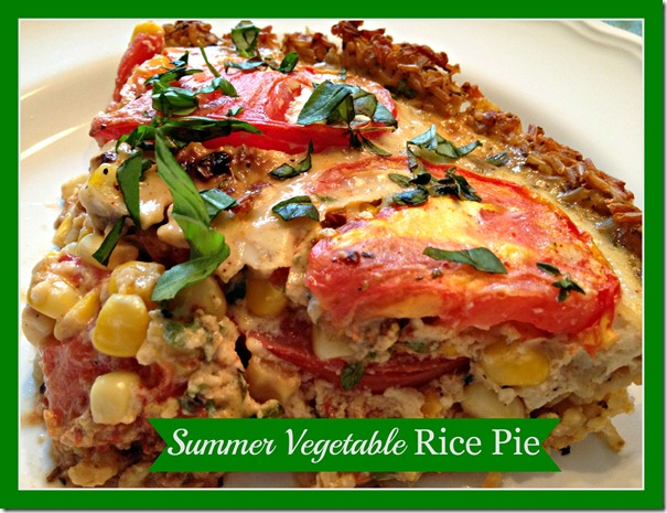 summer veg rice pie