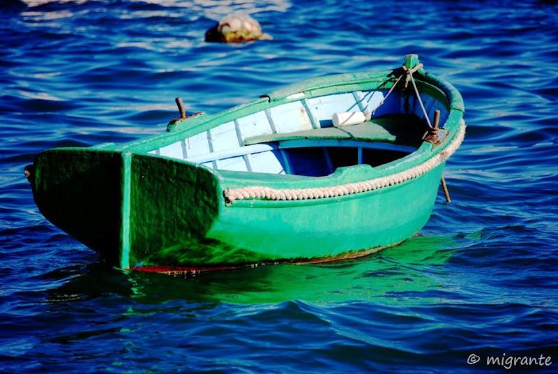 verde sobre azul - malta