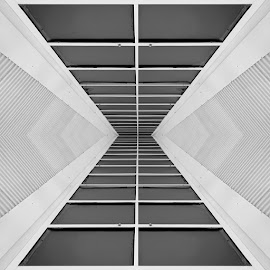 UFO Corridor by Bill Peppas - Abstract Patterns ( infinite, hall, floor, ceiling, vent, corridor, path, lines, ufo, vents, infinity )
