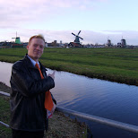 in front of the zaanse schans in zaandam in Zaandam, Noord Holland, Netherlands