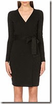 Diane von Furstenberg Black Knit Wrap Dress