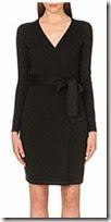 Diane von Furstenberg Black Knit Wrap Dress