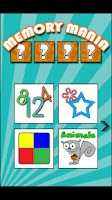 Screenshot of Kids Game: Memory Mania lite