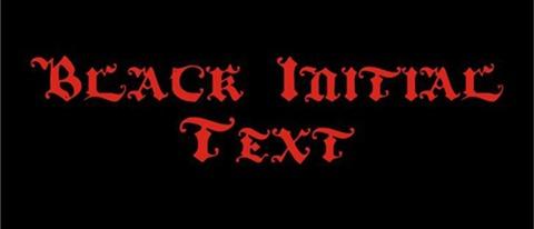 22-BlackInitialText-font