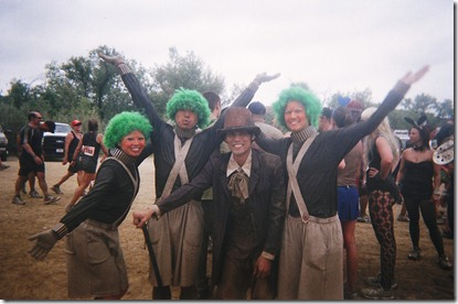 Camp Pendleton Mud Run willy wonka and oompa loompas
