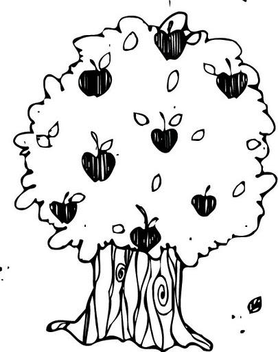 Arbol frutales para colorear - Imagui