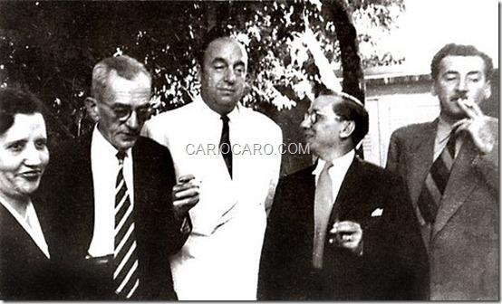 Heloísa Leite Medeiros, Graciliano Ramos, Pablo Neruda, Cândido Portinari e Jorge Amado