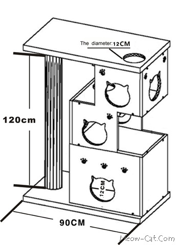 Diy unique cat furniture tutorial meow for Cat tree blueprints