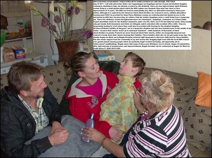 DASPOORT AH Pretoria poor whites disabled girl gets blanketsAug2011