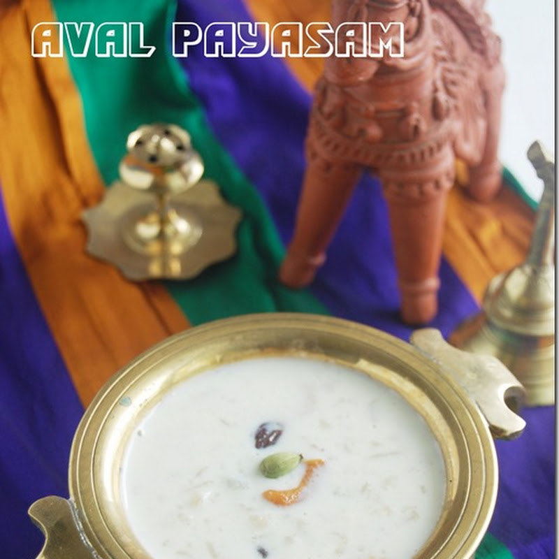 Aval payasam with almonds