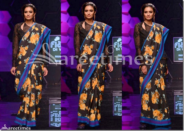 Payal_Pratap_Black_Floral_Print_Saree