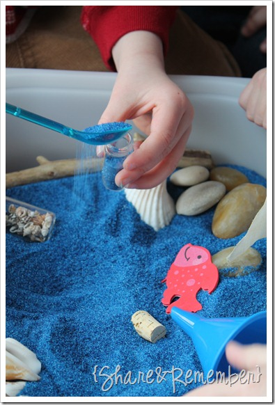 Ocean Sand Sensory Bin