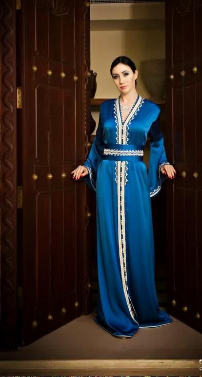 style de caftan  قفطان أزرق أخر التصاميم caftan bleu roi trés tendance 372fea005cf