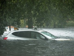 Flooded car