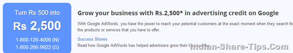 Google adwords free coupon