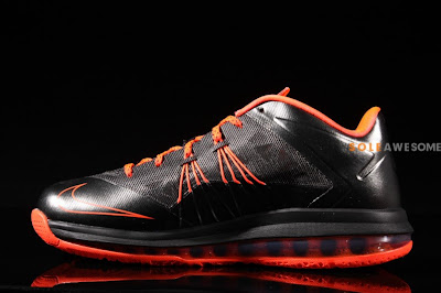 nike lebron 10 low gr black orange 2 06 Nike Air Max LeBron X Low Black / Orange (579765 001)