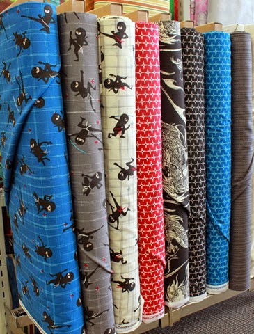 Year of the Ninja fabrics