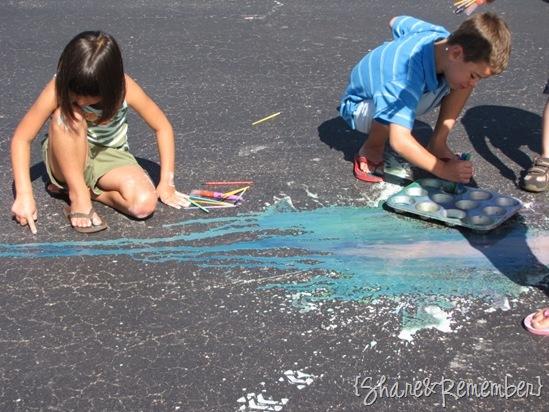 Cornstarch Sidewalk Paint