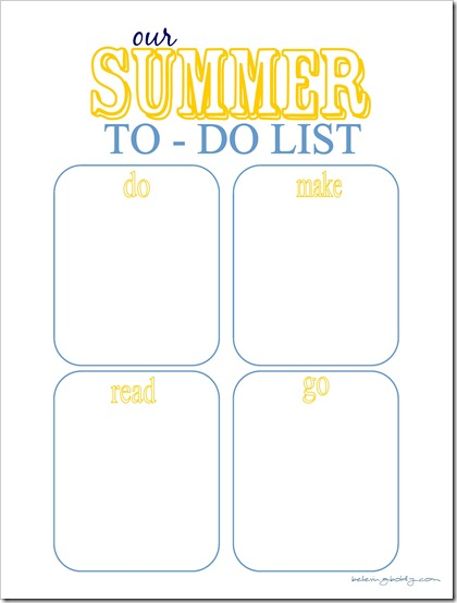 Summer To Do List 3 - SJB