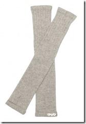 Silver Cashmere Wrist Warmers