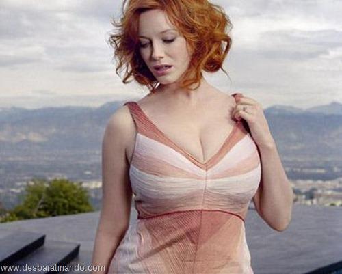 Christina Hendricks linda sensual sexy sedutora decote peito desbaratinando (3)