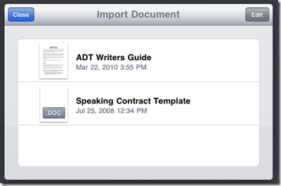 Transfer View And Edit Microsoft Word Documents on iPad_6