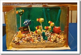 all 3 sides of aquarium glass cake are done