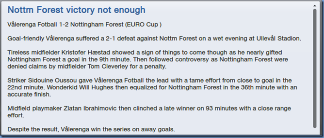 Forest victory not enough