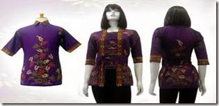 model blus batik 2014