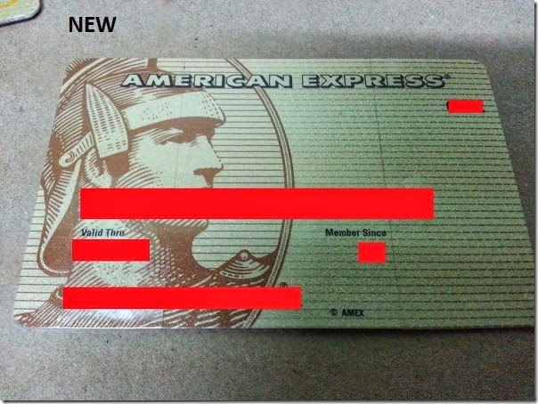 Renewed credit card