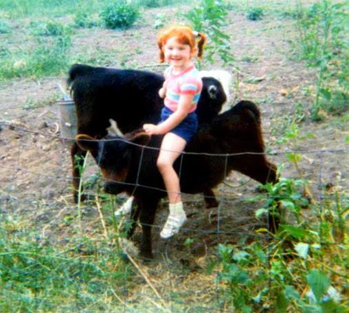 Amber riding calf