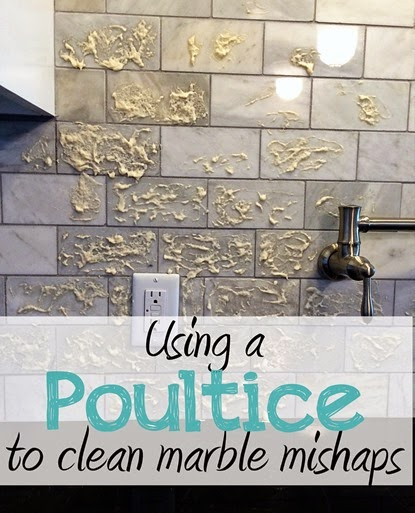 Just Wait til You have Kids | Usin a poultice to clean marble